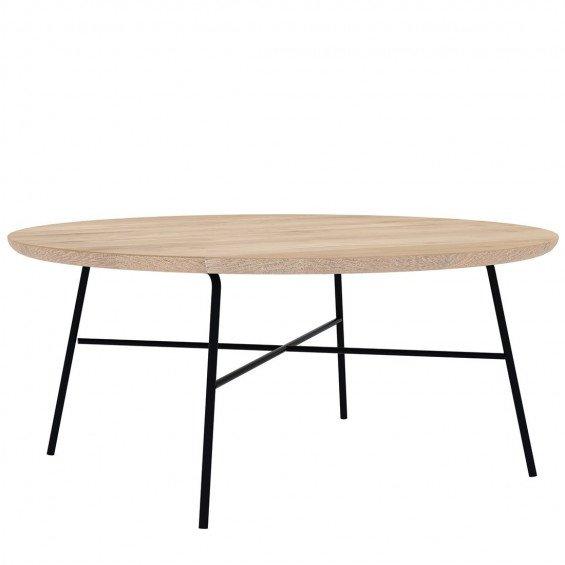 Ethnicraft disc salontafel rond misterdesign for Salontafel rond design