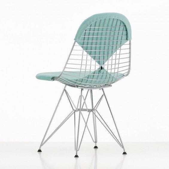Vitra Wire Chair DKR Gestoffeerd | MisterDesign