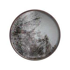 Heavy Aged Clear Mirror Dienblad