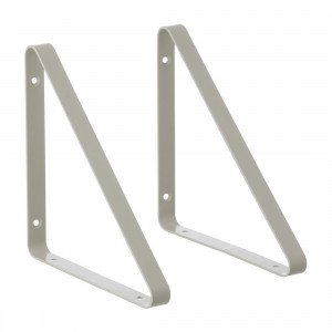 Metal Shelf Hangers Grijs