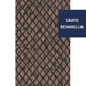 Aristo Quagga Behang Walnut