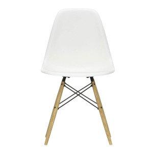 Eames Plastic Chair DSW Stoel Esdoorn Gelig