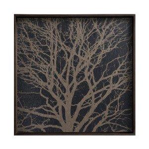 Black Tree Dienblad Vierkant