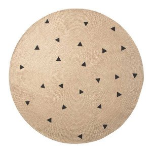 Jute Black Triangles Vloerkleed Large