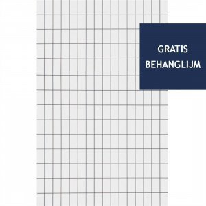 Grid Behang Zwart / Wit