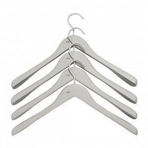 Soft Coat Wide Hanger Kleerhanger Grijs, set van 4