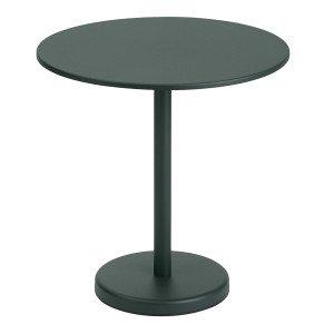 Linear Steel Café Tafel Rond