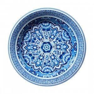 Delft Blue Plate Vloerkleed