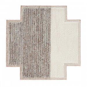 Square Rhombus Mangas Space Vloerkleed Ivory S