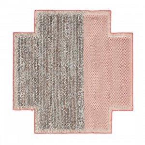 Square Rhombus Mangas Space Vloerkleed Pink S