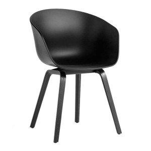 HAY About A Chair AAC 22 Stoel Zwart Gelakt