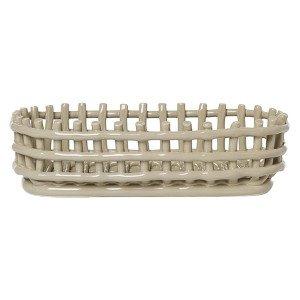 Ferm Living Ceramic Basket Ovaal