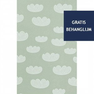 Ferm Living Cloud Behang Mint (op=op)