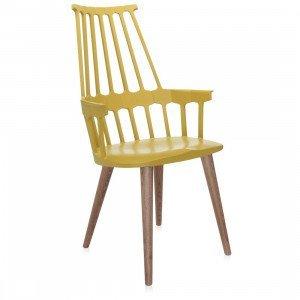 Kartell Comback Chair Stoel, Houten Onderstel