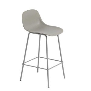Muuto Fiber Barkruk Tube Base Backrest