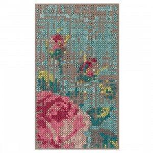 Gan Rugs Flowers Canevas Vloerkleed, 80 x 145