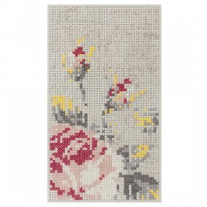 Gan Rugs Flowers Natural Canevas Vloerkleed 80 x 145