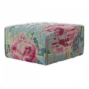 Gan Rugs Square Flowers Canevas, Colour