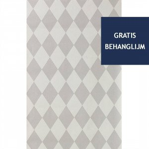 Ferm Living Harlequin Behang Grijs