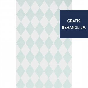 Ferm Living Harlequin Behang Mint (op=op)