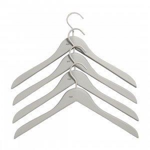 HAY Soft Coat Slim Hanger Kleerhanger Grijs, set van 4