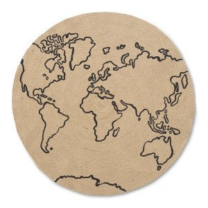 Ferm Living Jute World Vloerkleed