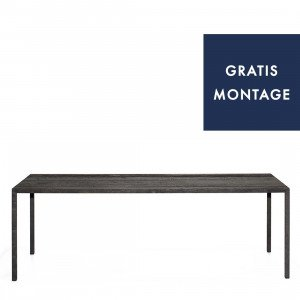 MDF Italia Tense Carbonised Wood Eettafel