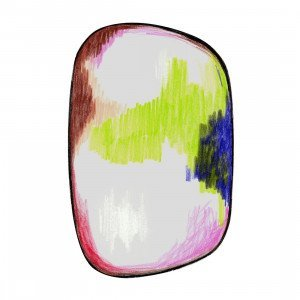 Moooi Carpets Scribble Vloerkleed Groen/Blauw/Roze