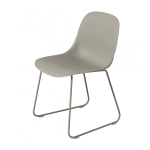 Muuto Fiber Side Chair Stoel, sledebasis