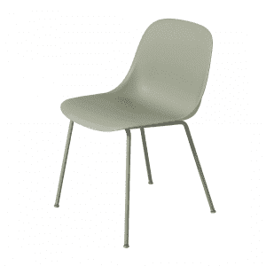 Muuto Fiber Side Chair Stoel, stalen poten