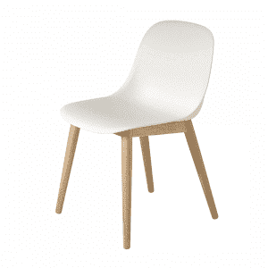 Muuto Fiber Side Chair Stoel, houten poten