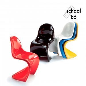 Vitra Panton Chairs, set van 5x Miniatuur