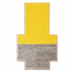 Gan Rugs Plait Mangas Space Vloerkleed Yellow