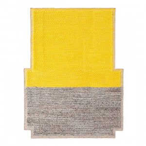 Gan Rugs Plait Mangas Space Vloerkleed Yellow M