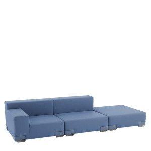 Kartell Plastics Tech Fabric 3-zits Open Bank