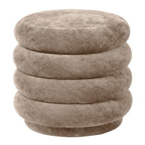 Ferm Living Pouf Rond Faded Velvet