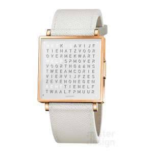 Biegert & Funk Qlocktwo Watch Rose White