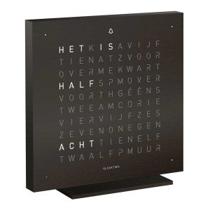 Biegert & Funk Qlocktwo Touch Metaal Tafelklok