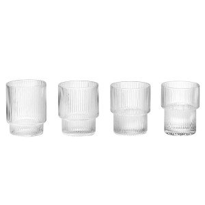 Ferm Living Ripple Glas, set van 4