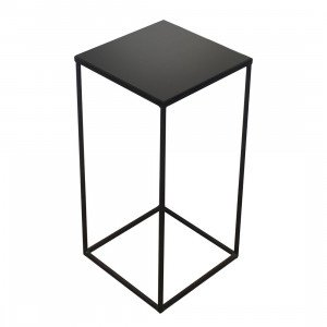 Notre Monde Square Side Table Charcoal Mirror
