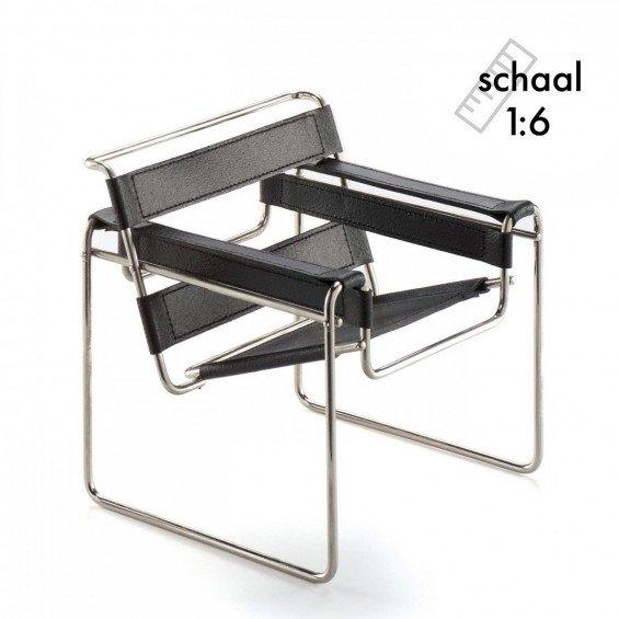 Vitra b3 wassily stoel miniatuur misterdesign for Bauhaus stoel leer