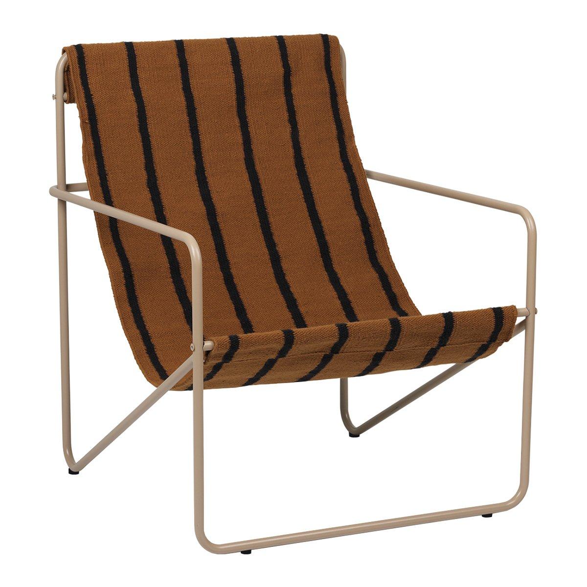 Ferm Living Desert Stoel - Cashmere - Stripe
