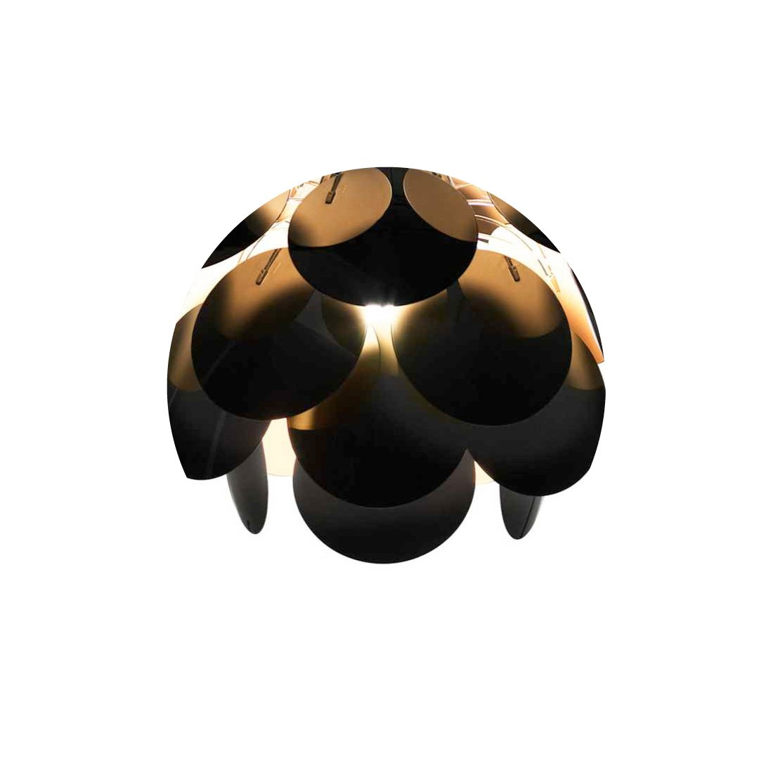 Marset Discocó C68 Plafondlamp Zwart Goud