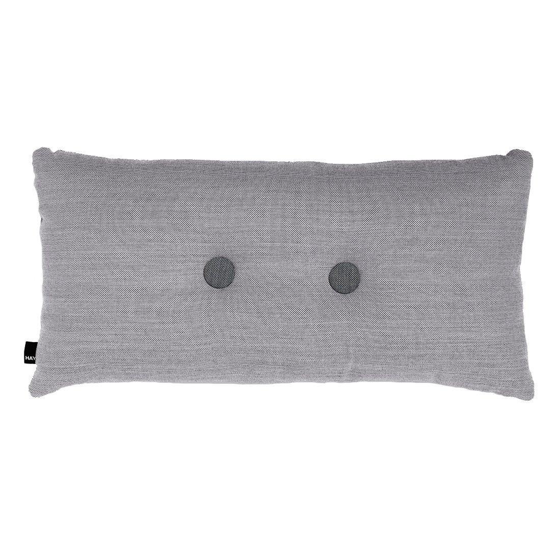 HAY Dot Cushion 2 Knopen Surface Kussen 70x36 Lichtgrijs