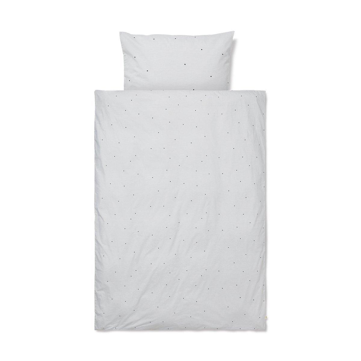 Ferm Living Dot Dekbedovertrek - Baby - Light Grey