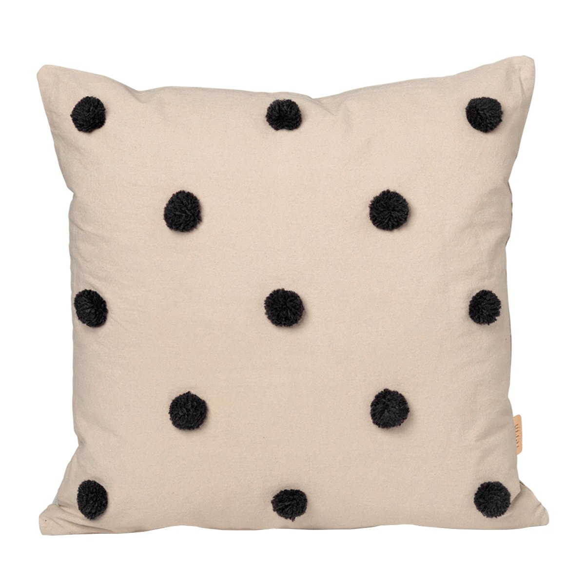 Ferm Living Dot Tufted Kussen - Sand/Black