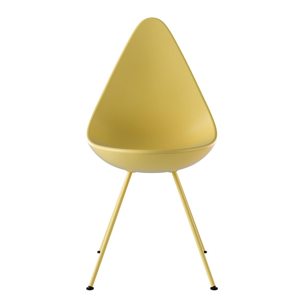 Fritz Hansen Drop Chair Geel - Poedercoat Poten