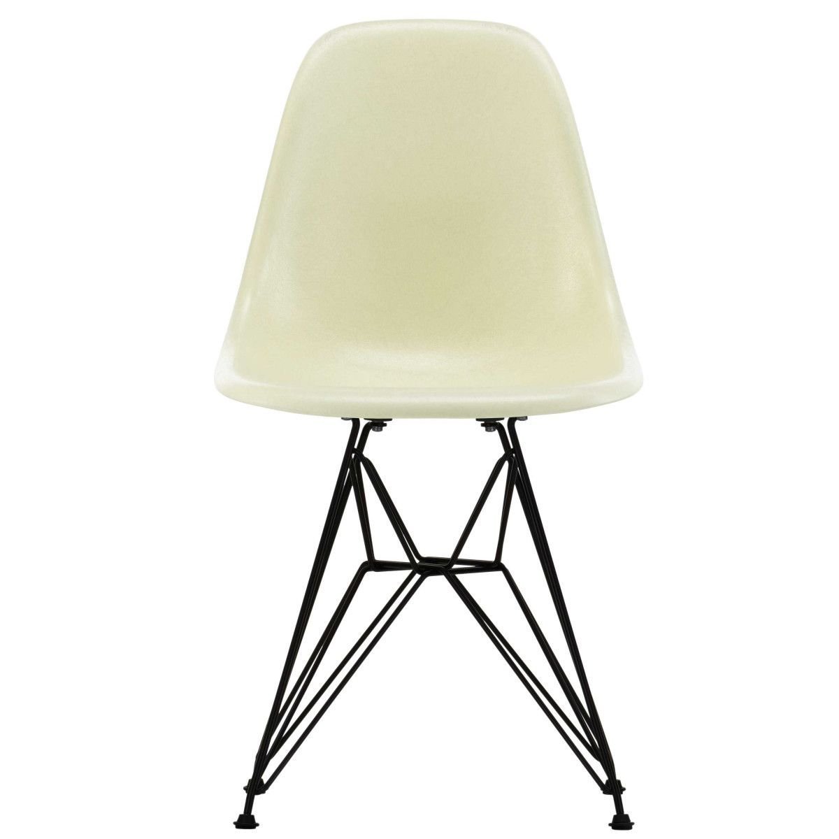 Vitra Eames Fiberglass Chair DSR - Parchment/Basic Dark