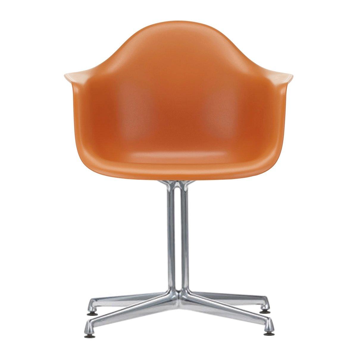 Vitra Eames Plastic Chair DAL Armstoel - Rusty Orange