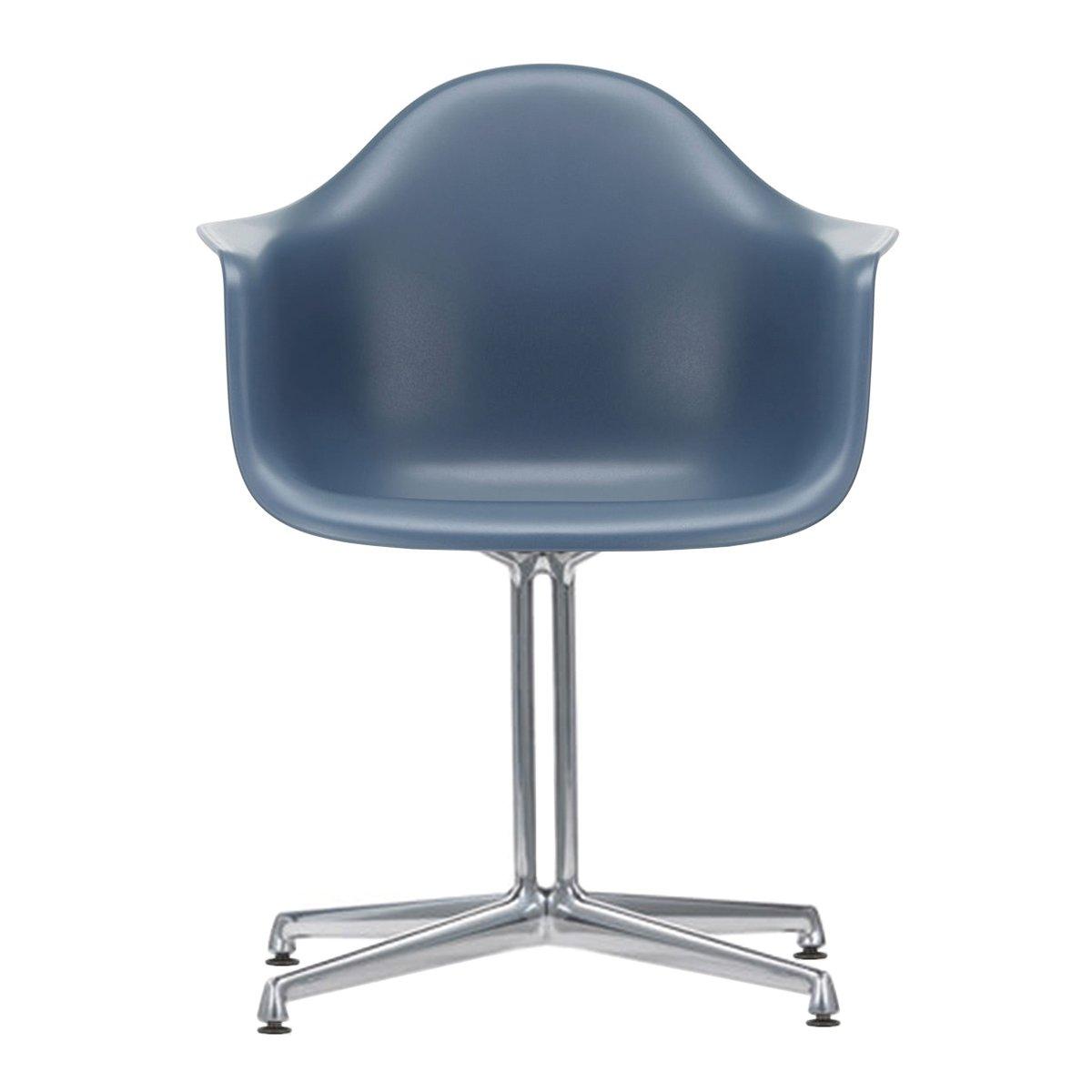 Vitra Eames Plastic Chair DAL Armstoel - Zeeblauw